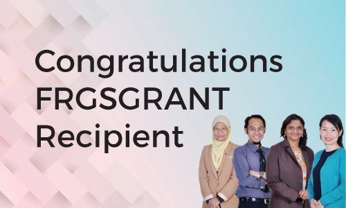 Congratulation FRGS 2019 Recipients